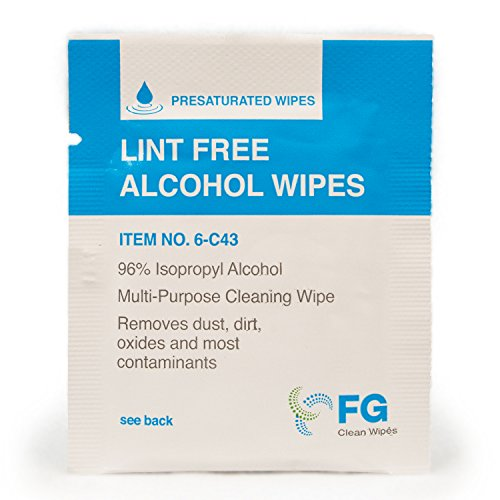 FG Clean Wipes 6-C43 Lint Free Presaturated Wipes (Box of 60) ()