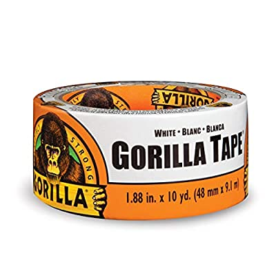 "Gorilla Tape, White Duct Tape, 1.88"" x 10 yd, White by Gorilla1231"