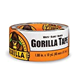 "Gorilla Tape, White Duct Tape, 1.88"" x 10 yd, White, (Pack of 1)"