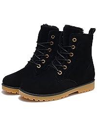 Kalends Unisex Nubuck Lace Up Winter Boots