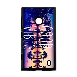 Canting_Good Good Vibes Sunset Custom Case shin for Nokia Lumia 520 by lolosakes by lolosakes