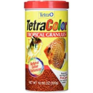 TetraColor Tropical Granules with Natural Color Enhancer, 10.58-Ounce