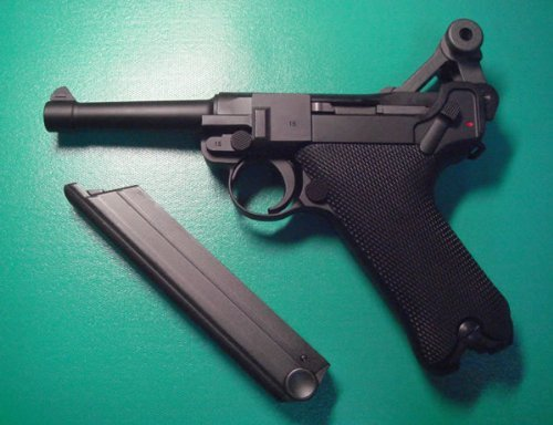 WE Luger 908SB Gas Blow Back Airsoft Pistol 4 inch for sale  Delivered anywhere in USA