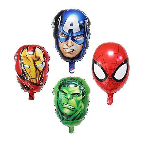 Captain America Cake Ideas (4-pack Superhero Birthday Party Mylar Foil Balloon Avengers Super Hero Birthday Party Supplies Party Decorations(Spiderman/Ironman/Hulk/Captain)