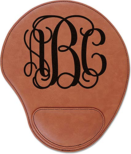 Interlocking Monogram Leatherette Mouse Pad with Wrist Support (Personalized) ()