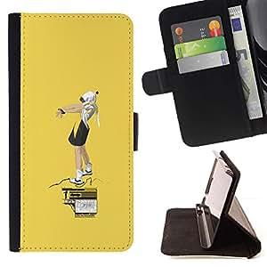 Momo Phone Case / Flip Funda de Cuero Case Cover - Amarillo Street Art;;;;;;;; - Sony Xperia Z1 L39