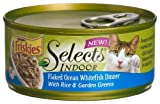 Friskies Selects Indoor Cat Food, Flaked Ocean Whitefish Dinner with Rice and Garden Greens, 5.5-Ounce Cans (Pack of 24), My Pet Supplies