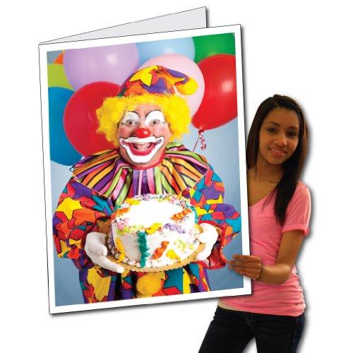 2'x3' Giant Birthday Card (Clown Design) - W/Envelope