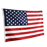 JSDOIN |Fly Breeze| 3×5 Foot American US Polyester Flag – Vivid Color and UV Fade Resistant – Canvas Header and Double Stitched – USA Flags with Brass Grommets 3 X 5 Ft Review