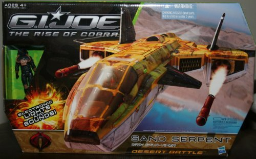(G.I. Joe The Rise of Cobra Desert Battle Sand Serpent Jet with Star Viper Action Figure)