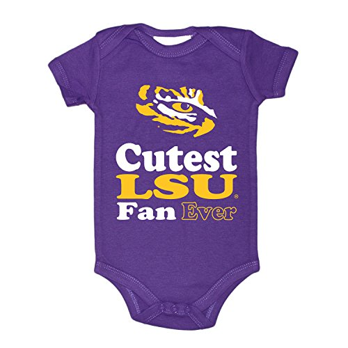 Two Feet Ahead NCAA LSU Tigers Children Unisex Lap Shoulder Creeper,Nb,Purple