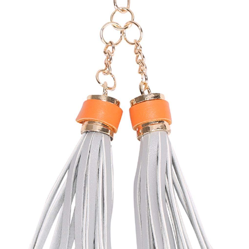 Aiming Tassel PU Leather Pendant Key Chain Fringe Keyring Purse Hand Bag Car Hanging Charm Couple Gift