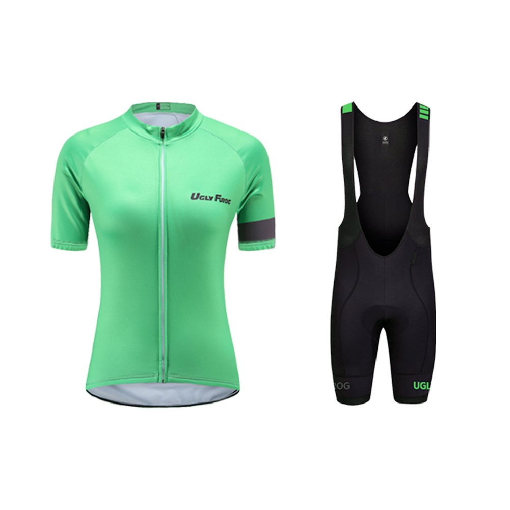 Uglyfrog MTB Mens Cycling Suit Short Sleeve Cycling Clothing Set Comfortable Quick Dry Riding Sportswear with Jersey and Padded Shorts