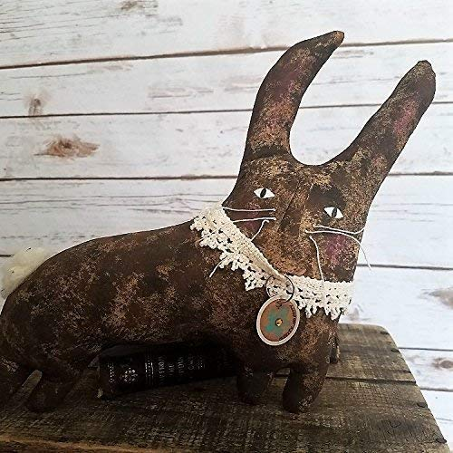 Primitive Folk Doll Pattern Art - Hippity Hoppity, Spring Easter Bunny Rabbit 10