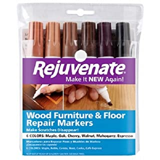 Rejuvenate Wood Furniture & Floor Repair Markers Make Scratches Disappear in Any Color Wood - 6 Colors; Maple, Oak, Cherry, Walnut, Mahogany, Espresso (2 Pack(6 Count))