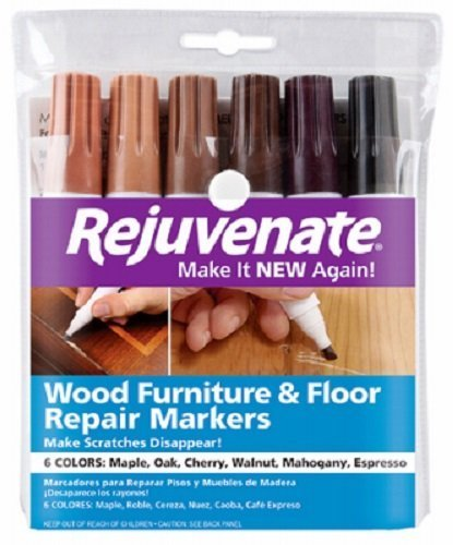 Rejuvenate Wood Furniture & Floor Repair Markers Make Scratches Disappear in Any Color Wood – 6 Colors; Maple, Oak, Cherry, Walnut, Mahogany, Espresso