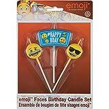 Emoji Birthday Candle Set, 3pc