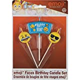 Emoji Birthday Candle Set, 3pc
