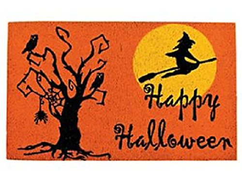 Deluxe Happy Halloween Coir Welcome Door Mat -