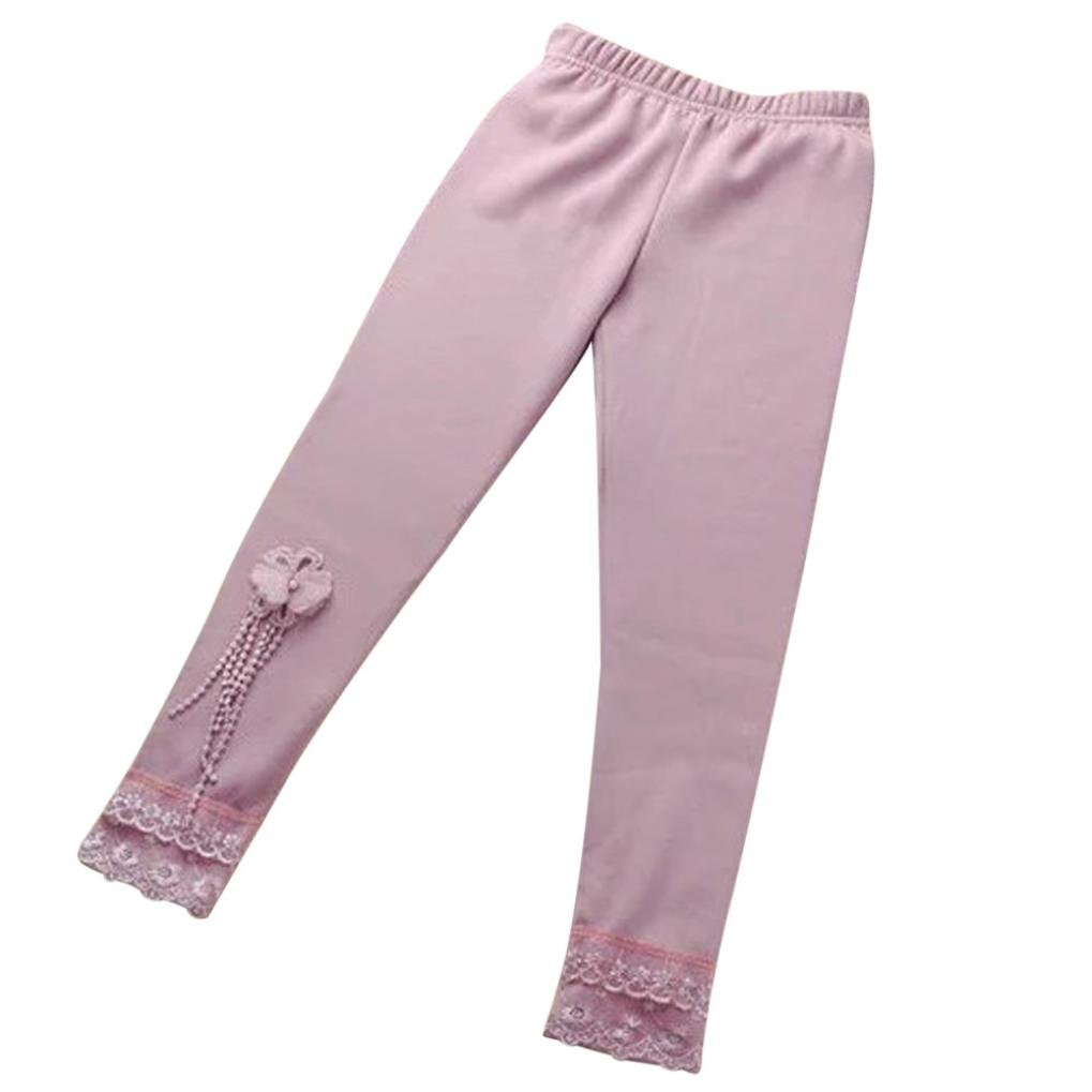 Baby Girls Legging ,Clode® For 1-5 Years old Baby Girls Children Baby Butterfly Lace Girl Pants Leggings Elastic Child Dancing Pants Clode-T76