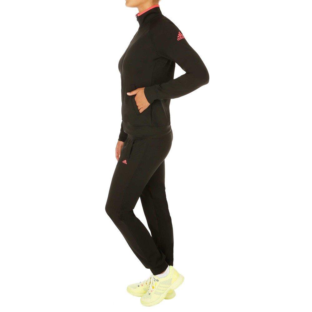 Adidas Logo Suit Tuta per Donna, Colore: Nero/Rosa