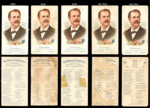 Billiard shooters (Miscellaneous) card#7 Yank Adams of the - Undefined - Grade Fair/Poor ()