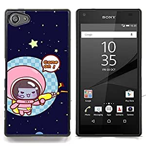 - Funny Cute Space Cat Kitten/ Hard Snap On Cell Phone Case Cover - Cao - For Sony Xperia Z5 compact / mini