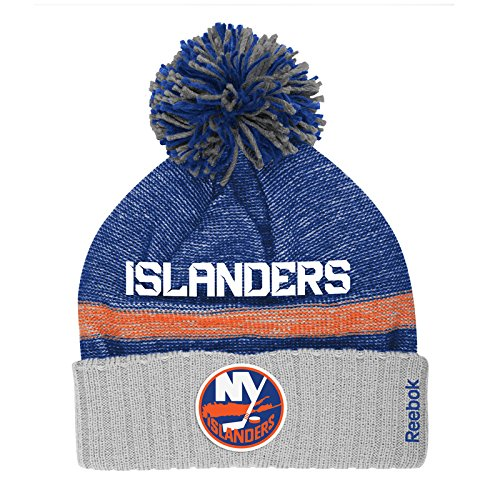 New York Islanders Reebok NHL 2014 Center Ice Cuffed Knit Hat w/ Pom – DiZiSports Store