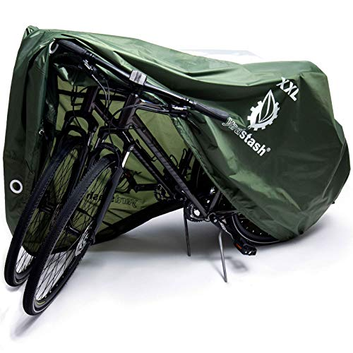 YardStash Bike Cover – Reflective Bicycle Tarp & Waterproof Bike Covers, Outdoor Storage – Weatherproof Tarps for Bikes…