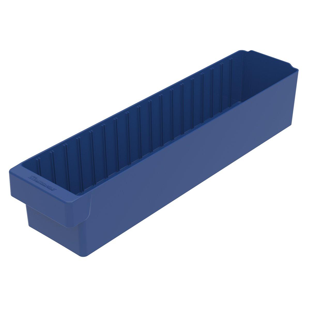 Akro-Mils 31164 23-7/8-Inch L by 5-9/16-Inch W by 4-5/8-Inch H, AkroDrawer Plastic Storage Drawer, Blue, Case of 6