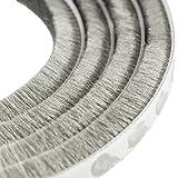 UOOOM 5m Windproof Dustproof Door Window Seal Stripl Self Adhesive Brush Strip 9x15mm (Gray)