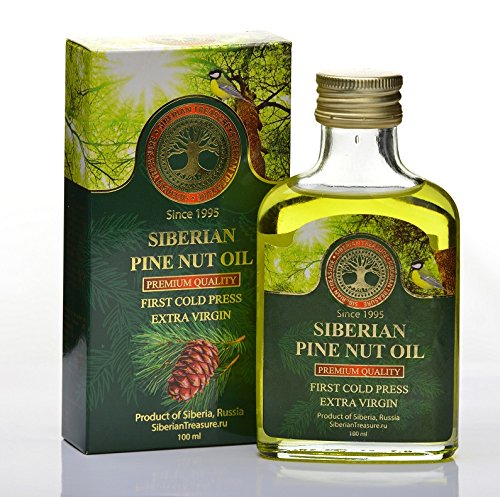 Siberian Pine Nut Oil 100 Ml, Premium Quality, Extra Virgin, First Cold Press - 3.4 Fl Oz