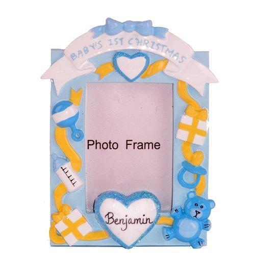 激安単価で Baby's First Christmas Picture Frame Blue Blue Ornament by Baby's by Bronners.com [並行輸入品] B01AKZZPHC, 山田市:41f13402 --- irlandskayaliteratura.org