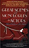 Great Scenes and Monologues for Actors, Michael Schulman, Eva Mekler, 0312966547