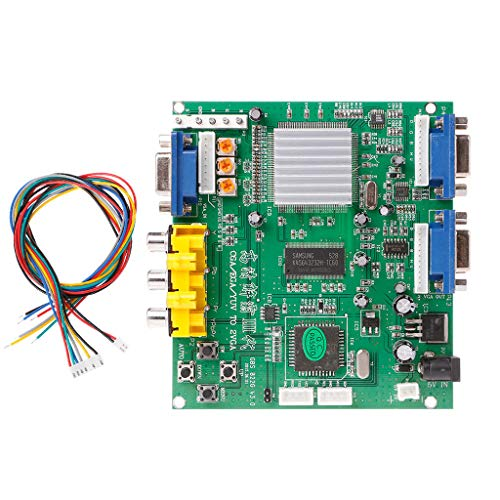 HOWWOH Arcade Game RGB/CGA/EGA/YUV to Dual VGA HD Video Converter Adapter Board GBS-8220
