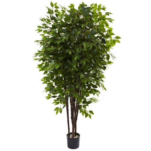 Ficus Tree (Nearly Natural 5402 Deluxe Ficus Tree, 6.5-Feet, Green)