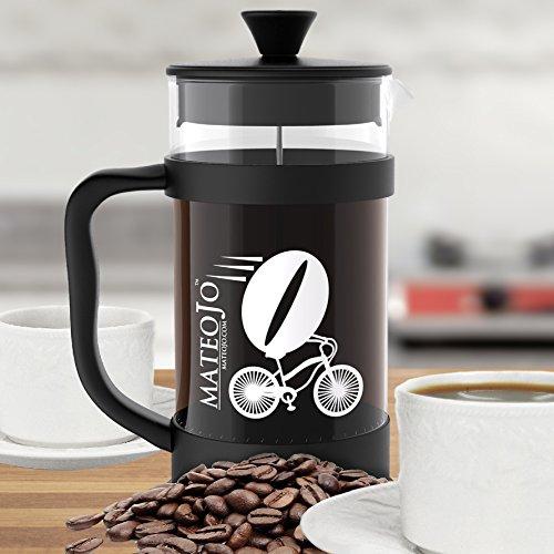 Tea And Coffee Maker French Press Coffee Plunger : French Press Coffee and Tea Maker - Press Pot - Cafetiere - Borosilicate Glass Carafe and ...
