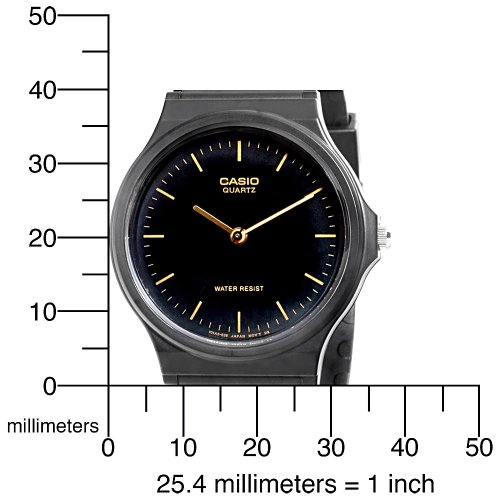 amazon com casio men s mq24 1e black resin watch casio watches