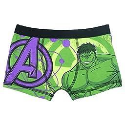 Marvel Avengers Assemble Incredible Hulk Boys Boxer Shorts - Ag - 9-10 (140 cms)