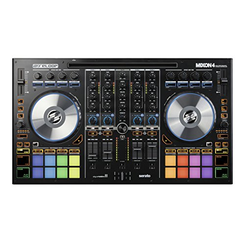 (Reloop Mixon 4 High Performance 4-Channel Hybrid DJ Controller for SeratoDJ and Algoriddim Djay Pro (AMS)