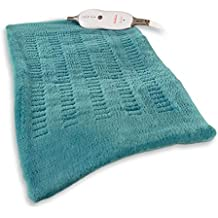 Sunbeam 4-Setting King-Size Microplush/SoftTouch Heating Pad, Teal