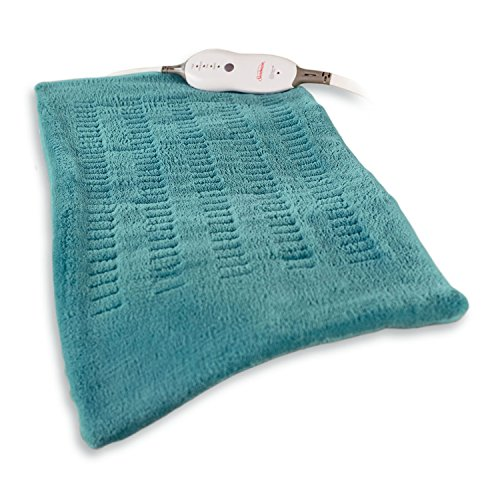 Sunbeam King-Size Microplush/SoftTouch Heating Pad, 4 Heat Settings, 2-Hour Auto-Off, Digital LED Controller, 12' x 24', Teal