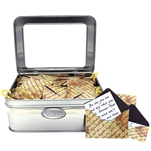 KindNotes Tin Keepsake Gift Box with Long Distance Missing You Messages (for Couples) - Inspirational Scripts