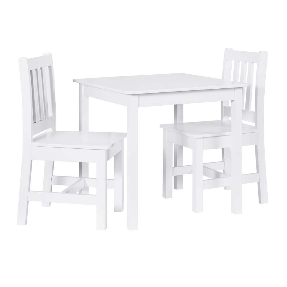 Linon Jaydn White Kid Table and Two Chairs by Linon