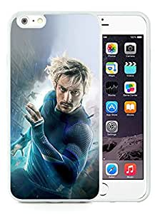 Avengers Age Of Ultron Aaron Taylor Johnson Quicksilver White Hottest Sell Customized iPhone 6plus 5.5 Inch TPU Case