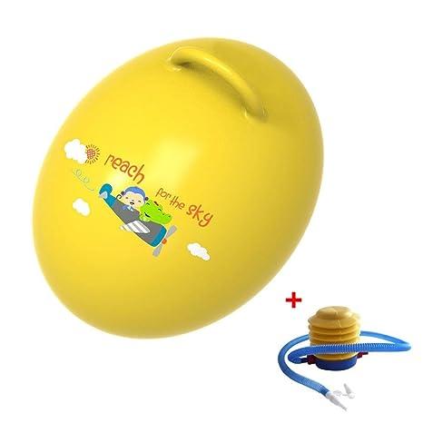 Niños saltarinas pelota con mango, EI de forma Volver inflable ...
