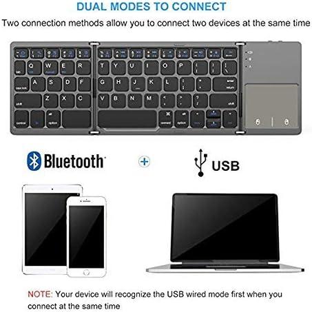 BAIYI Universal Three Fold with Touchpad Tablet Phone Computer Wireless Bluetooth Folding Mini Keyboard