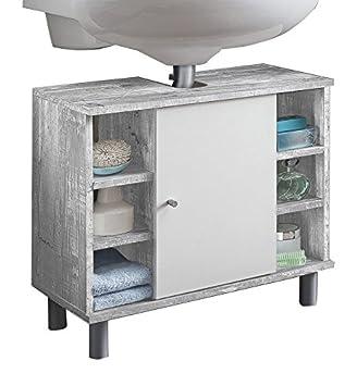 WILMES 85002 57 0 75 Badmöbel, Waschbecken Unterschrank,  Badezimmerunterschrank, Unterschrank Holz,