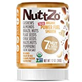 Nuttzo Organic Smooth Paleo Power Fuel Seven Nut and Seed Butter, Peanut Free, 12 Oz, 1 Pack