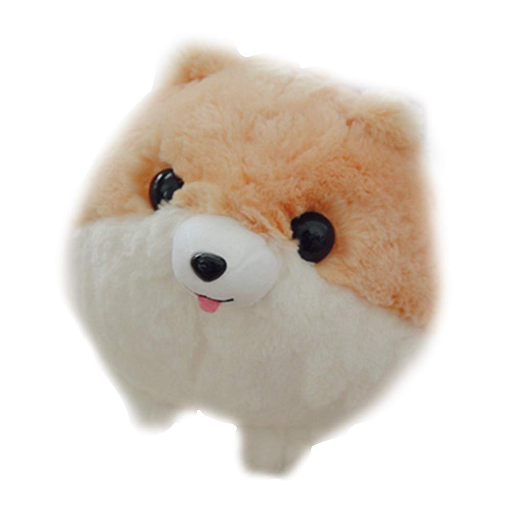 Gbell Kids Soft Stuffed Pomeranian Dog Toys- Plush Baby Animal Doll Toy Emotional Companion Toys for Girls Boys Toddler Adults,1Pcs 11.8 inch, White Black Brown White Black Brown (Black)